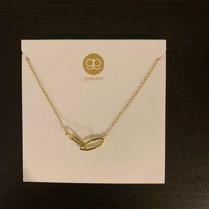 NWT Gorjana Interlocking Oval Gold Necklace